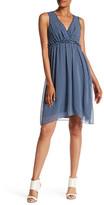 Max Studio Sleeveless V-Neck Print Dress