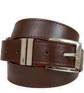 Yours Clothing BadRhino Plain Brown Bonded Leather Jean Belt