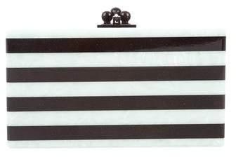 Edie Parker Jean Striped Clutch