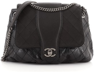 Chanel Bubble Graphic Messenger Quilted Calfskin with Caviar Large