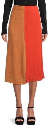 M Missoni Ribbed Shimmer A-Line Skirt