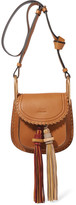 Chloé Hudson Mini Whipstitched Leather Shoulder Bag - Brown