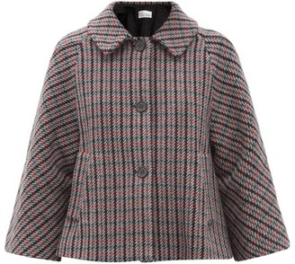 RED Valentino Checked Wool-blend Swing Jacket - Grey Multi
