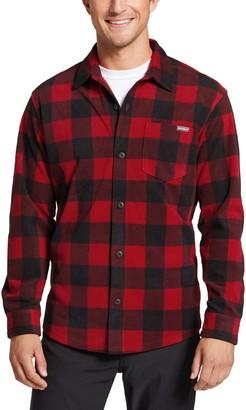 Eddie Bauer Men's Fast Fleece Plaid Button-Down Shirt