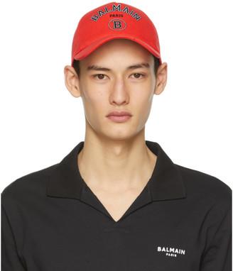 Balmain Red Logo Cap