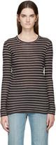 Etoile Isabel Marant Black and White Striped Karon T-shirt