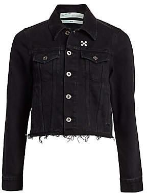 Off-White Women's Denim Cropped Jacket