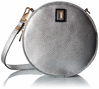 Luana Italy Women's Carla Round Leather Crossbody Handbag