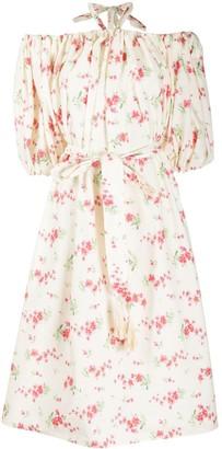VIVETTA Floral Print Halterneck Dress