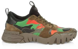 Valentino Rockrunner Plus Camouflage Sneakers