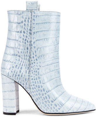 Paris Texas Moc Croco Ankle Boot in Light Blue | FWRD