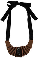 Marni Pleated Leather Collar Necklace