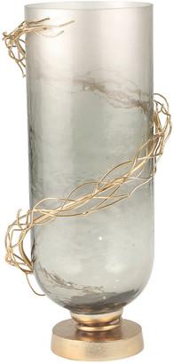 Sagebrook Home Glass Wire Wrap Vase