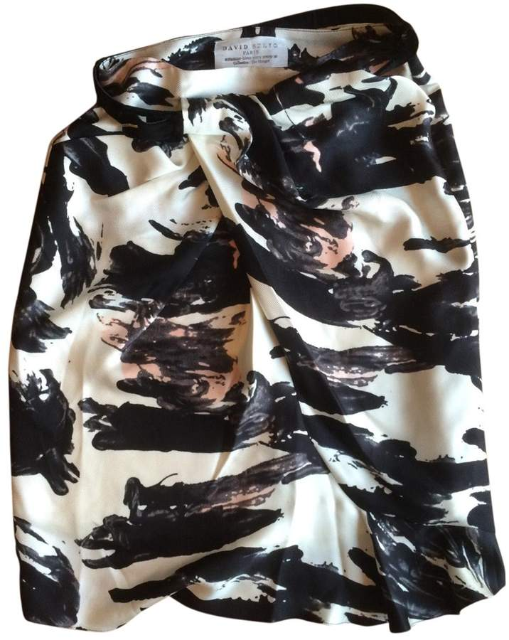 David Szeto Multicolour Silk Skirt for Women