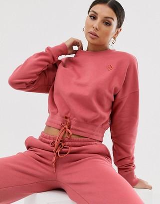 Converse Dusty Pink Crop Sweatshirt