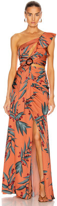 PatBO Heliconia One Shoulder Maxi Dress in Heliconia Coral | FWRD