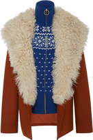 Tory Burch Lancaster Wool Chevron Coat