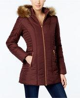 Celebrity Pink Faux-Fur-Trim Hooded Puffer Coat