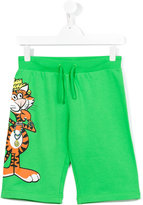Moschino Kids - teen tiger print shorts - kids - Cotton - 14 yrs