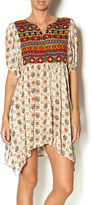 Umgee USA Printed Peasant Dress