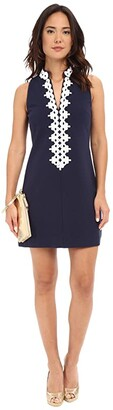 Lilly Pulitzer Callista Shift Dress (True Navy) Women's Dress