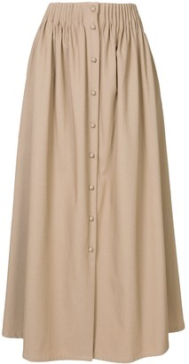 By Any Other Name Gathered Mid-Length Skirt