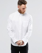 Paul Smith PS by Oxford Shirt With Pocket In White Classic Regular Fit