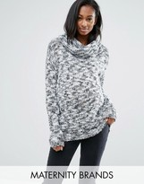 Mama Licious Mama.licious Mamalicous Long Sleeve Roll Neck Knitted Sweater