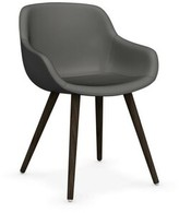 Calligaris Igloo Genuine Leather Upholstered Dining Chair Upholstery Color: Antelope Brown, Leg Color: Walnut