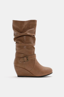 Ardene Mid-Calf Wedge Boots - Shoes |