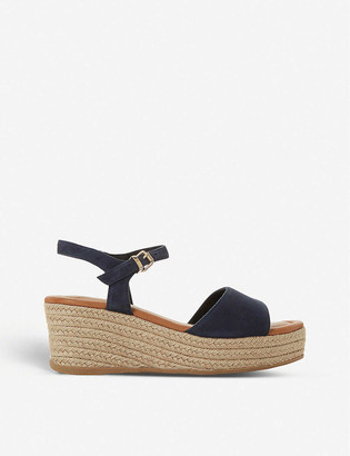 Dune Kadi suede wedge sandals