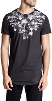 Religion Skeleton Lily Crew Neck Graphic Tee