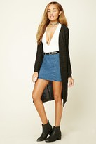 Forever 21 FOREVER 21+ Open-Front Longline Cardigan