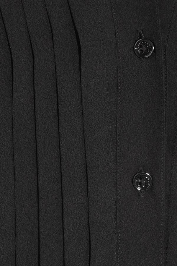 Equipment Tuxedo silk-crepe shirt