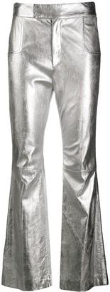 Philosophy di Lorenzo Serafini Metallic Flared Trousers