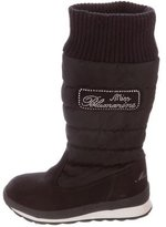 Miss Blumarine Girls' Suede Quilted Boots