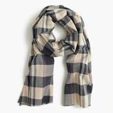J.Crew Lightweight cotton scarf in plaid