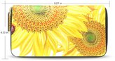BAIHUISHOP Womens Sunflower Pattern Leather Long Wallet & Purse Case Card Holder