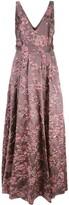 Badgley Mischka floral evening dress