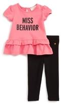 Kate Spade Infant Girl's Miss Behavior Tee & Leggings Set