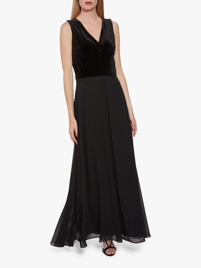Thumbnail for your product : Gina Bacconi Eartha Velvet Chiffon Dress
