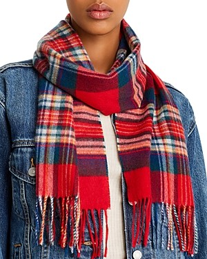 C by Bloomingdale's Tartan Cashmere Scarf - 100% Exclusive
