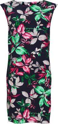 Wallis PETITE Navy Leaf Print Shift Dress