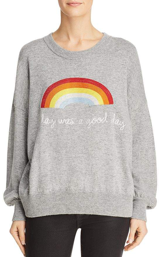 Spiritual Gangster Rainbow Embroidered Sweater