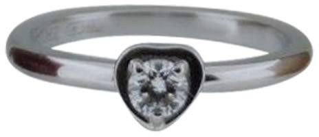 Cartier 18K White Gold and Diamond Diamants Legers Ring Size 48 US 4.5