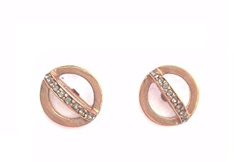 Paige Novick Rose Gold Open Circle Studs
