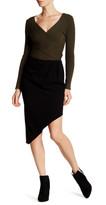 Haute Hippie Marigold Asymmetrical Short Lined Skirt