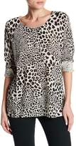 Sanctuary Cabaret Crew Neck Leopard Print Sweater