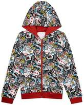 Marc Jacobs Badge Print Zip-Up Hoodie