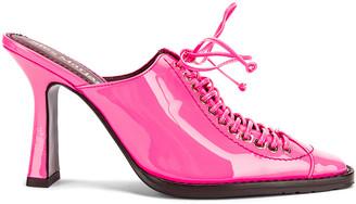 Sies Marjan Stella Calf Mule in Hot Pink   FWRD